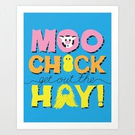 Moo Chick [Blue] Art Print