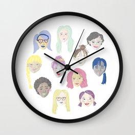 Beautiful Lady Faces Wall Clock