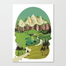 To The Mountains Canvas Print
