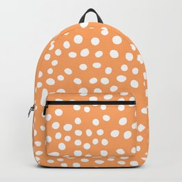Orange and white doodle dots Backpack