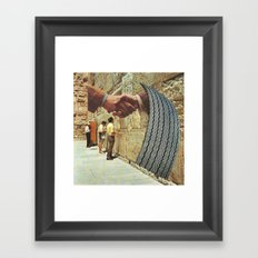 peace talks Framed Art Print