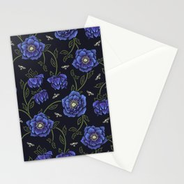 Midnight Hellebore Stationery Cards
