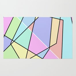 Abstract Pastel Rug