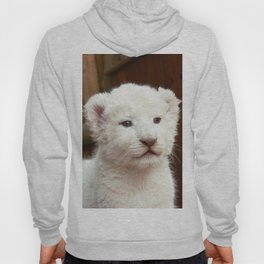 I will hug him and pet him and squeeze him and I will name him George - White Lion Cub Hoody