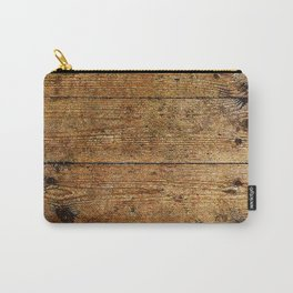 Industrial Urban Wood Plank Boards Carry-All Pouch