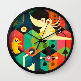 Poached Egg Party Wall Clock