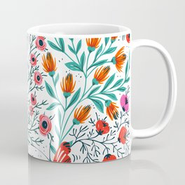 Hipster Floral Butterfly Peace and Love Spring Blooms Coffee Mug