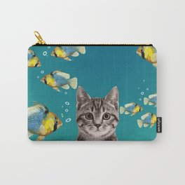 Tiger Cat with Fishes Carry-All Pouch