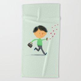 Boy in Love #3 Beach Towel