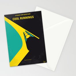 No538 My COOL RUNNINGS minimal movie poster Stationery Cards