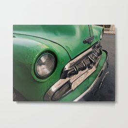 Green Hub Patina Metal Print