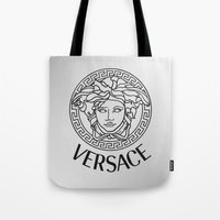 versace Tote Bags featuring Versace by Beauti Asylum