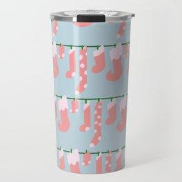 Holiday Socks in Santa Claus Travel Mug