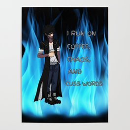 Coffee,Chaos, and Cuss Words Poster