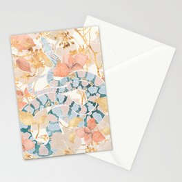 Coral Spring Garden Stationery Cards