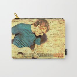 Guitar player on stone Carry-All Pouch