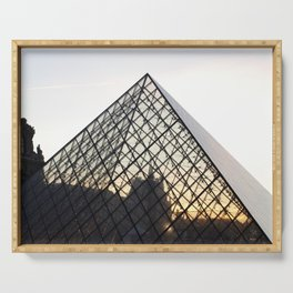 Abstract Louvre Pyramid Serving Tray