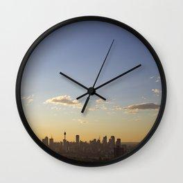Sydney Sunset Wall Clock