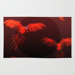 Papagei sunset Rug