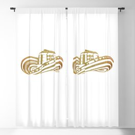 Colombian Sombrero Vueltiao in Gold Leaf Style Blackout Curtain