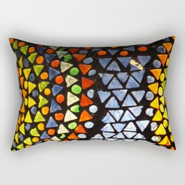 Colorful Mosaic Glass Lantern in Jerusalem, Israel Rectangular Pillow