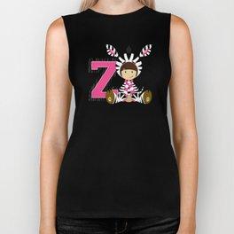 Z is for Zebra Biker Tank