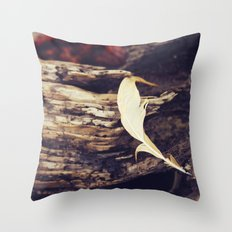 Beach Feathers Throw Pillow