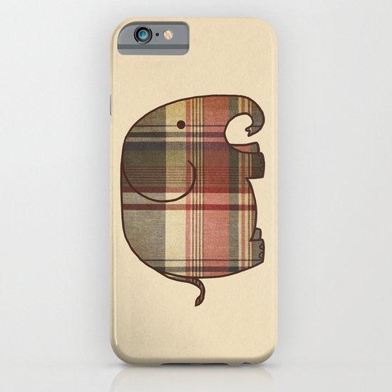 Plaid Elephant  iPhone & iPod Case