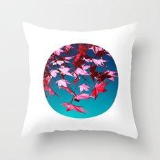 red tree II Throw Pillow