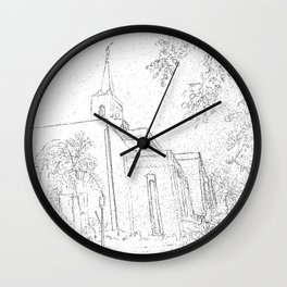 San Salvador El Salvador LDS Temple Sketch Wall Clock