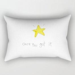 kid wanna say something... Rectangular Pillow