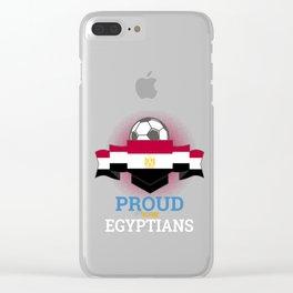 Football Egyptians Egypt Soccer Team Sports Footballer Goalie Rugby Gift Clear iPhone Case