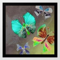 Floating Butterflies Art Print