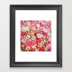 Roses:  I love you this much! Framed Art Print