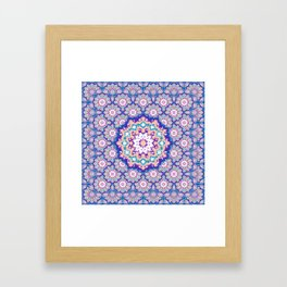 Ikat Mandala Magical Tiles Framed Art Print
