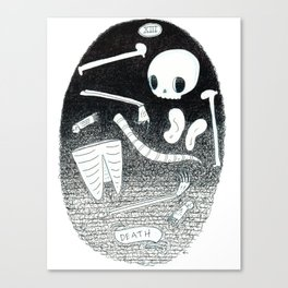 Death Skeleton Tarot Canvas Print