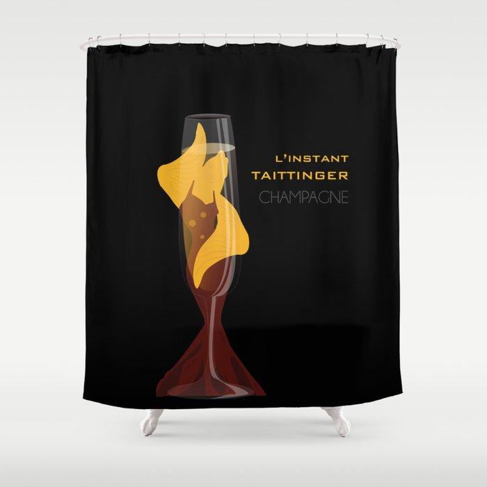 Taittinger Champagne Shower Curtain