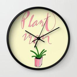 Plant Mom Wall Clock
