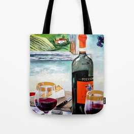 The Wine Painting Tote Bag