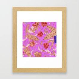 Warm Flower Framed Art Print