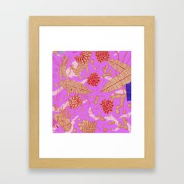Warm Flower Framed Art Print