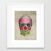 navajo Framed Art Prints featuring Navajo Skull  by Terry Fan