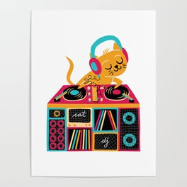 Cat DJ Poster