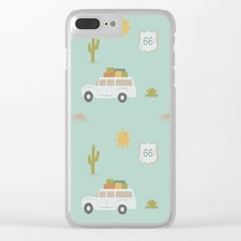 Road Trippin' in Mint Clear iPhone Case
