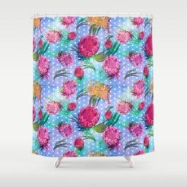 Soft Australian Native Floral Print Shower Curtain