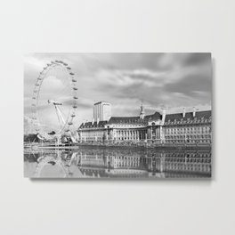 London Eye and River Thames Metal Print