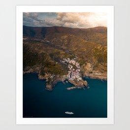 Italian Coastal Village Art Print