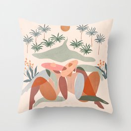 Summer daze Throw Pillow