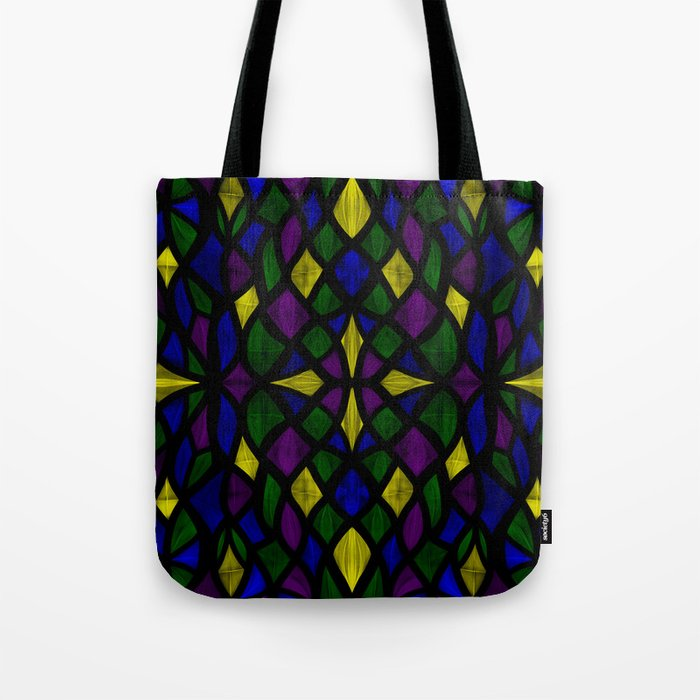 Stained Glass Scales Tote Bag