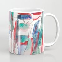 couple Mugs featuring Couple by 5wingerone
